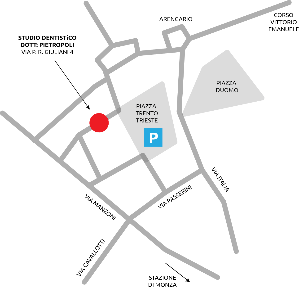 mappa-studio-dentistico-maggioni-pietropoli